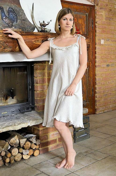 Womens linen dress