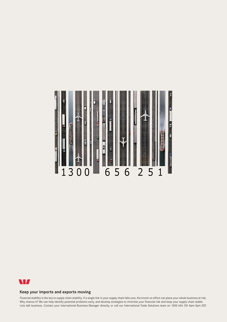 Creative Bar code design for financial services | advertising. Werbung. publicité | Ad: Westpac Bank | Photo: Tim Mcelmeel |