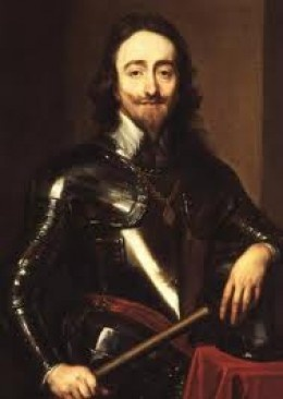 Sir Anthonis van Dyck - Portrait of King Charles. Background info on English Civil War, Charles I, Cromwell, Roundheads.
