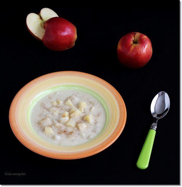 Gizi-receptjei.  Várok mindenkit.: Almakrémleves karamellizált almával.