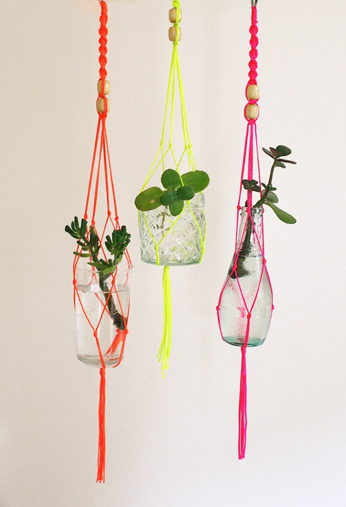 "macrame planters. I don't know what ""macrame"" is but I want to know!"
