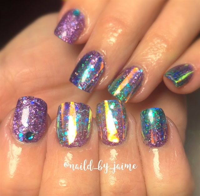 Day 316: Purple and Teal Nail Art