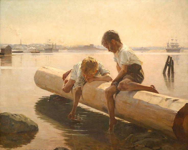 Albert Gustav Aristides Edelfelt (Finnish, 1854-1905) The Little Boat