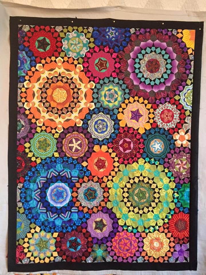 """La Passacaglia Quilt from the book """"Millefiori Quilts"""" Made by Lori Buhler"""