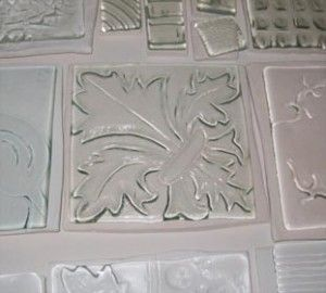 Fused Glass on Texture Tile