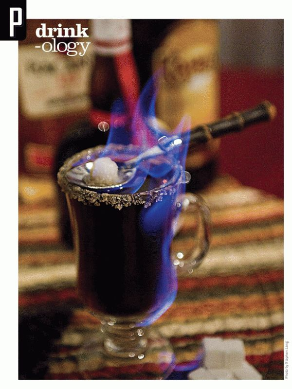 Made famous by Huber's Café in Southwest Portland, OR, the Spanish Coffee is a hot drink that literally begins with a flame.