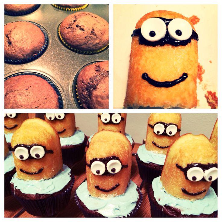 my despicable me cupcakes despicable me cupcakeshalloween decorations minions