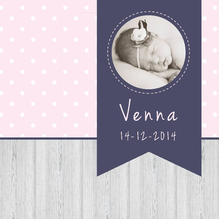Geboortekaartje Venna 2