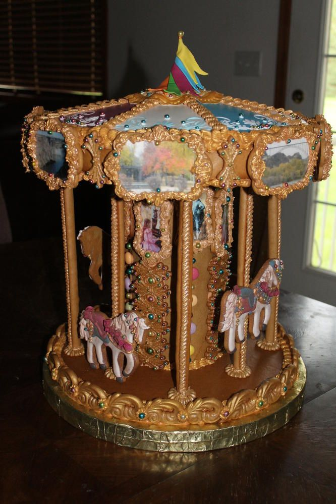 Gingerbread Carousel by Rocking Horse Sugar Decor | Cookie Connection