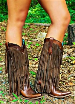 Little Miss Honky Tonk Fringe Boots $349.99 #SouthernFriedChics.....I'm in love!!