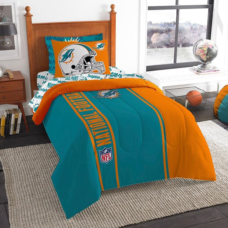 Miami Dolphins NFL Team Bed in a Bag (Twin) Twin bed