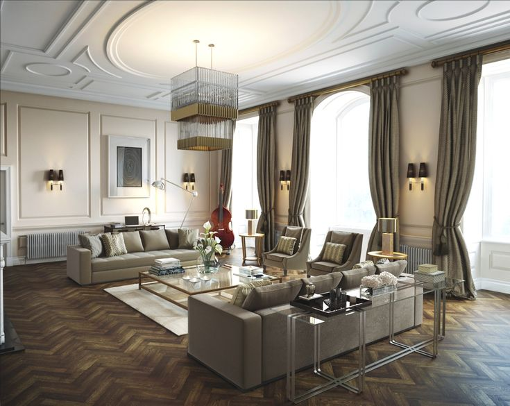 Londons Luxurious Roehampton Mansion Restored To Its Former Glory Low CeilingsDesigns For Living RoomLiving
