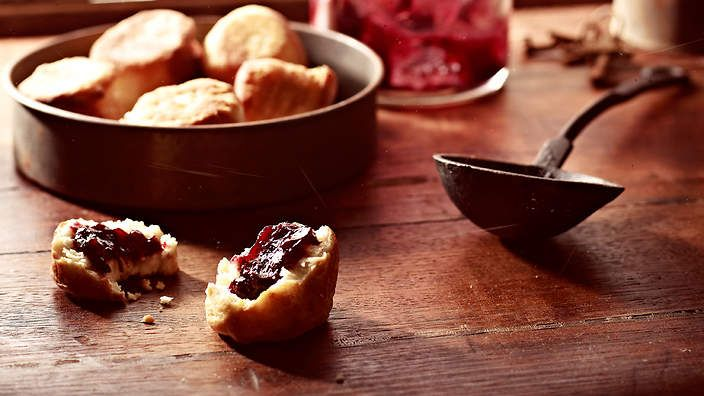 Somewhere between a damper and a scone, puftaloons are an Australian early settler's dish. They are perfect served warm with butter, rosella jam and a cup of tea.
