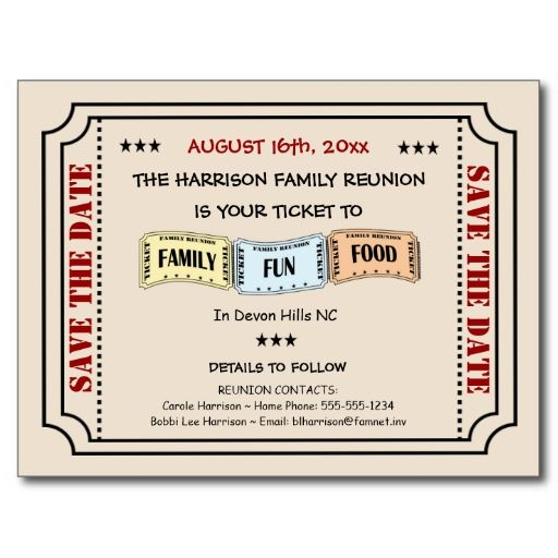 17 best images about family reunion invitations on