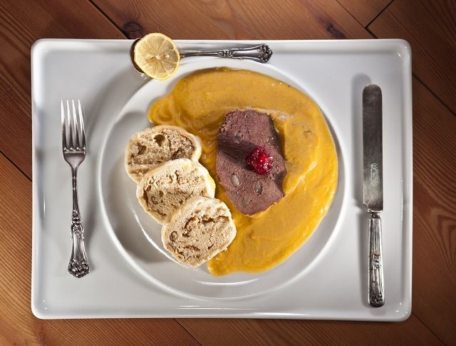 The one food you have to try in Prague is braised beef with bread dumplings (in Czech cuisine, it's Svíčková). Use this easy recipe from a Prague local!
