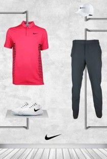 Rory McIlroy - Pink Nike Golf Shirt - Abu Dhabi 2018