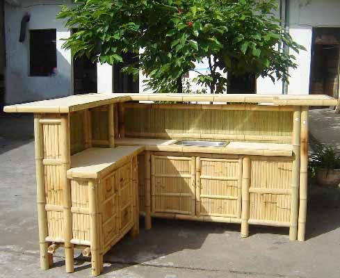 Recessed Bamboo Bar Counter