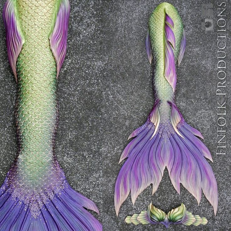 Fantastic Finfolk tail in beautiful river green and deep purple. #mermaids #mermaidtail #siliconemermaidtail #silicone #mermaidtails// idk, Wy?