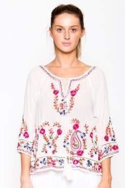 Tapestry Shirt White - Iris & Lin