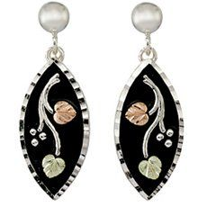 Antiqued Black Hills Silver Earrings from Coleman. Made of 925 Sterling Silver. Authentic Black Hills Gold Jewelry. Comes in a beautiful White Leatherette Box. Manufacturers Lifetime Warranty. Made in South Dakota, USA.