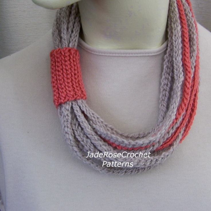 Crocheting Rope : Cool idea Rope Scarf Crochet Pattern PDF 210 by JadeRoseCrochet on ...