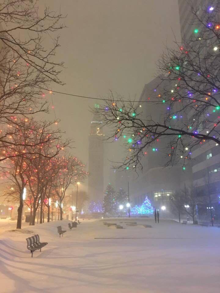 Snowy Evening at Skyline Park. Denver