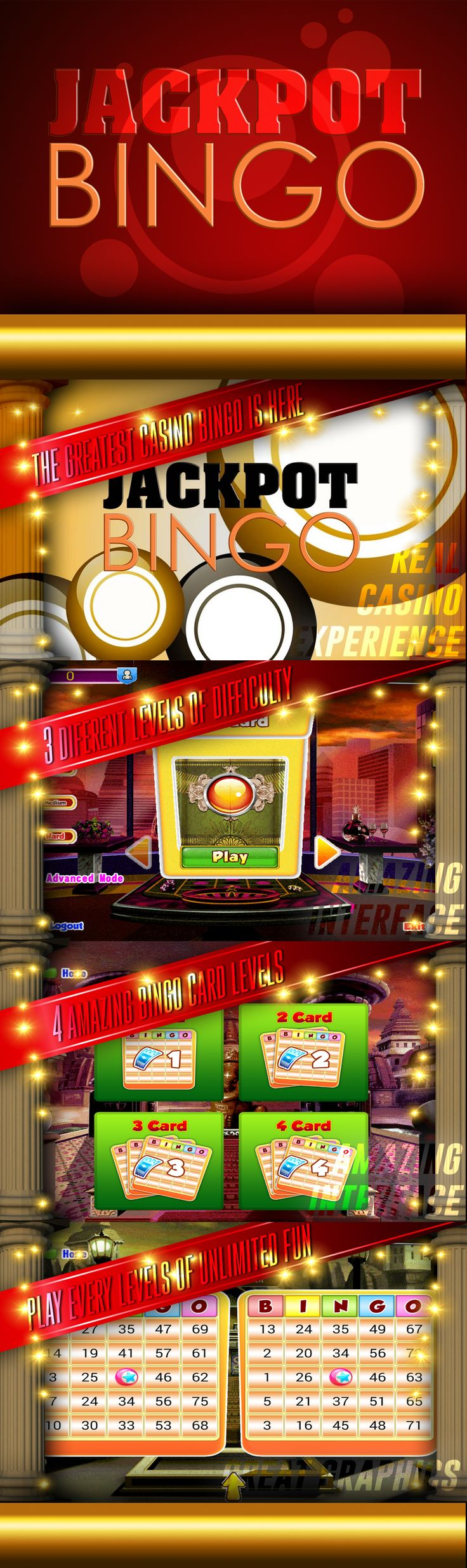 Real time killing machine Jackpot Bingo free.  Bingo is a game of chance played with randomly drawn numbers which players match against numbers that have been pre printed on 5x5 matrices.