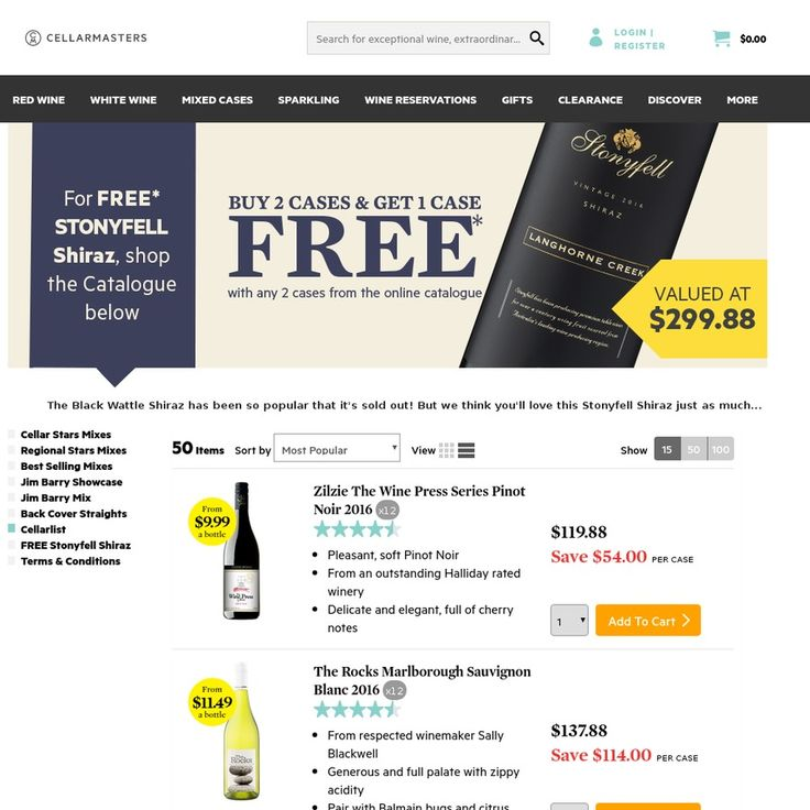 36 Bottles of Wine for $101.6 Delivered ($2.82 ea.) @ Cellarmasters Online (2 Cases of Your Choice + 1 Case of Tim Adams Shiraz)