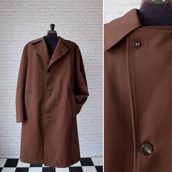Hey, I found this really awesome Etsy listing at https://www.etsy.com/listing/558709026/brown-mens-dress-coat-vintage-42-regular