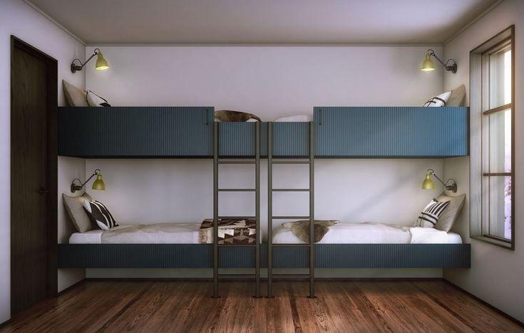 Sovrum med våningssäng 95m². Nordklint 1-36 - Bjurfors