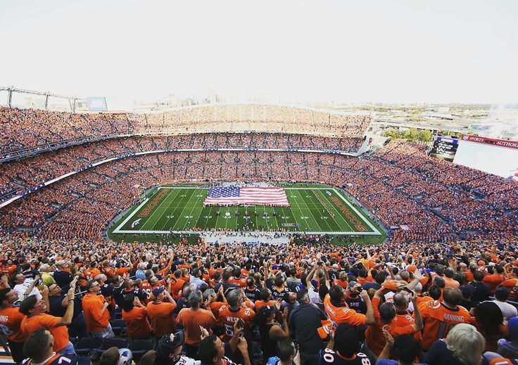 Denver #Bronco's Sports Authority stadium full of fans! Thanks @darcyporter1997!  #SuperTailgate #tailgate #tailgating #win #letsgo #gameday #travel #adventure #stadium #party #sport #ESPN #jersey #sports #league #SportsNews #score #love #Football #NFL