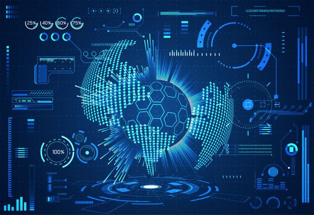 Abstract technology ui futuristic concept hud world interface hologram Premium Vector