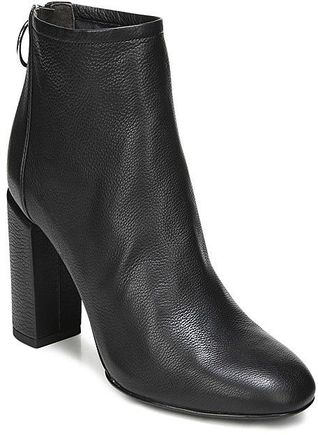b868e69dc9e Via Spiga Women s Nadia Leather High Block Heel Booties