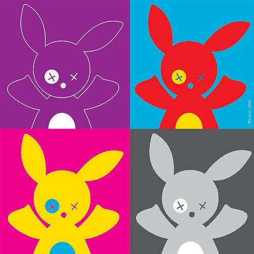 """Four Bob"" d'apres Warhol"