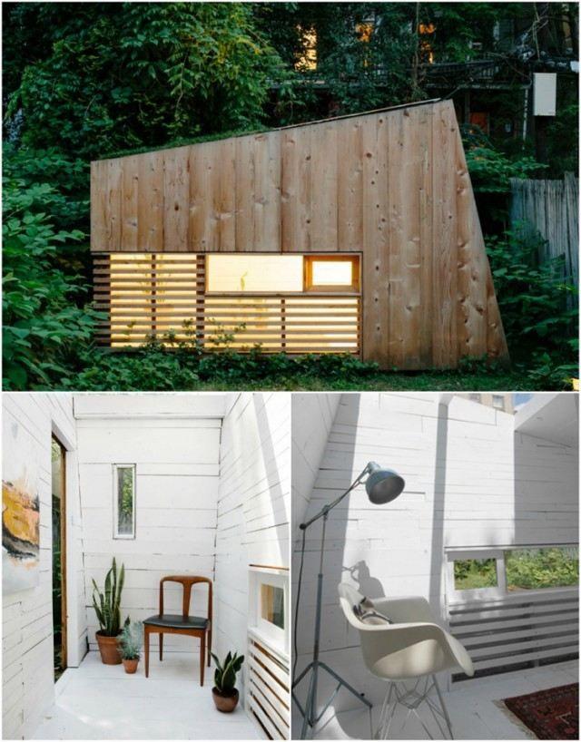 les 25 meilleures id es de la cat gorie chalet de jardin habitable sur pinterest chalet en. Black Bedroom Furniture Sets. Home Design Ideas