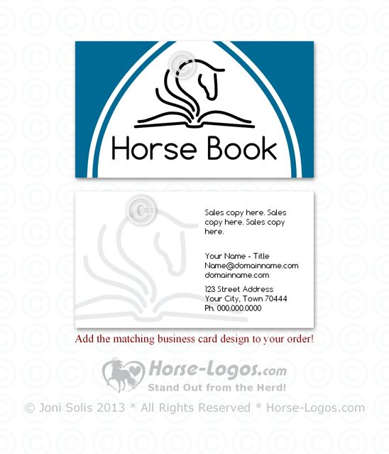 17 best images about horse business cards on pinterest