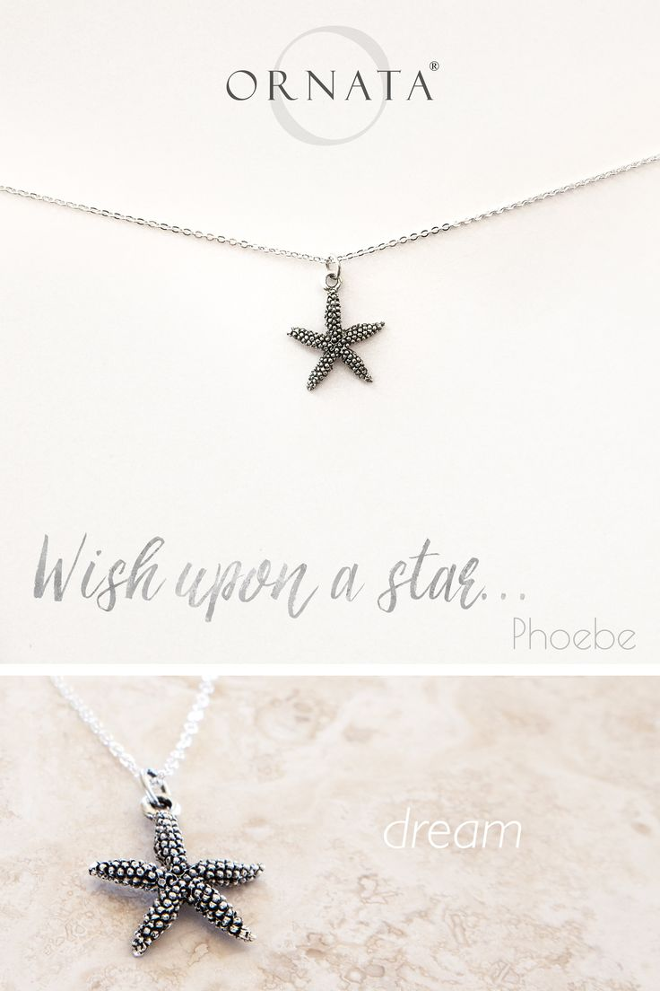 """WISH UPON A STAR"" STARFISH NECKLACE ON PERSONALIZED JEWELRY CARD 