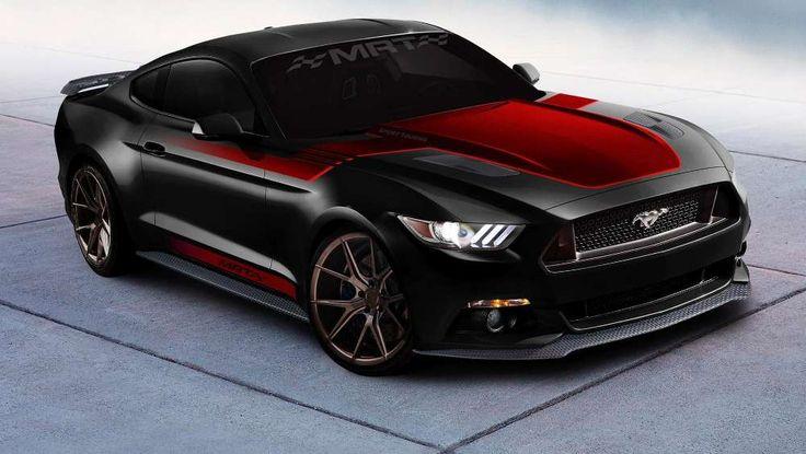 Wirkt schick und böse: der schwarz-rot lackierte Mustang-Umbau von MRT (Quelle: Ford)
