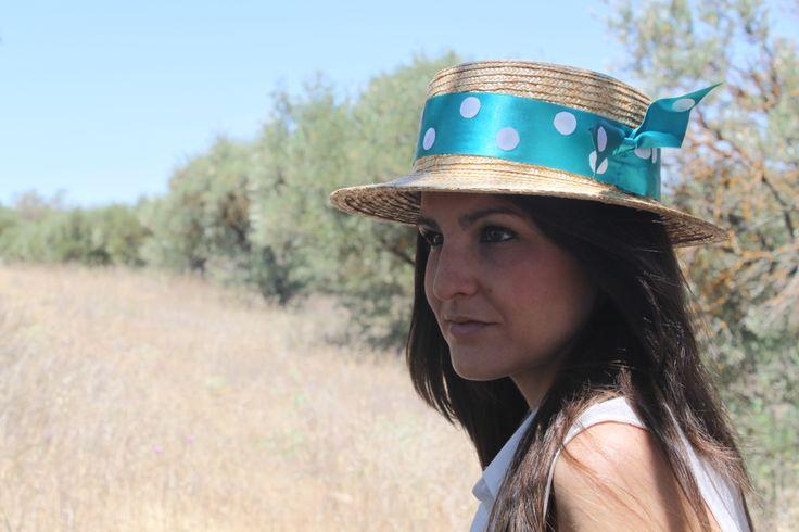 Canotier Lunares, Divertido y elegante. Tocados Chic by Inma Segovia