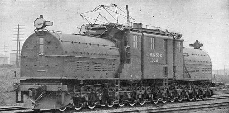 A prototype of a Ganz AC electric locomotive in Valtellina, Italy, 1901