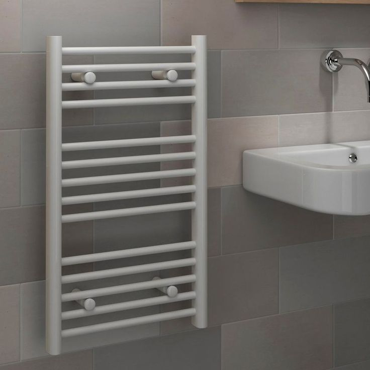 Kudox Flat Ladder Contemporary Towel Warmer White (H)700 (W)400mm | Departments | DIY at B&Q