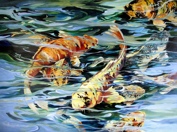 114 best koi fish paintings and pictures images on for Koi fish art print