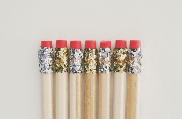 DIY Crayons de papier paillettes