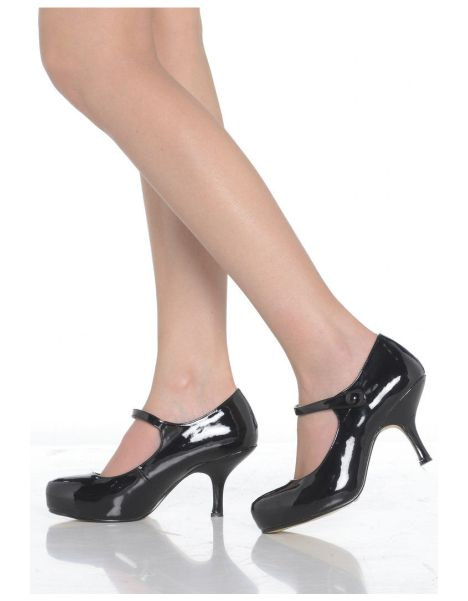 Ladies Strap Mid Heel Casual Smart Work Pump Court Shoes These new low heel Mary Jane shoes are absolutely gorgeous Featuring a concealed platform