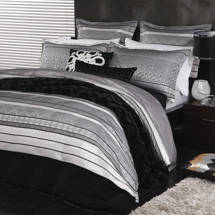 Ultima Xavier Silver Duvet Cover Set - Bed Bath & Beyond