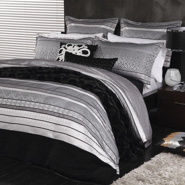 Ultima Xavier Silver Duvet Cover Set - Bed Bath & Beyond