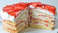 strawberry shortcake wedding cake cool