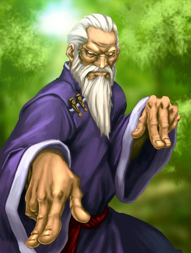 Old Man Chinese Assasin Gen Street Fighter Personagem Ficticio