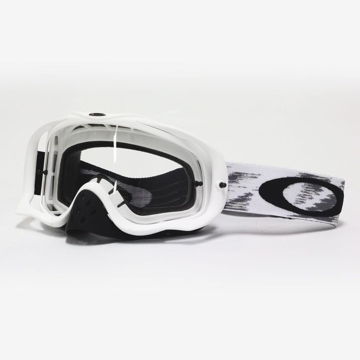 Oakley NEW Mx Crowbar Matte White Speed Clear Adult Motocross Dirt Bike Goggles