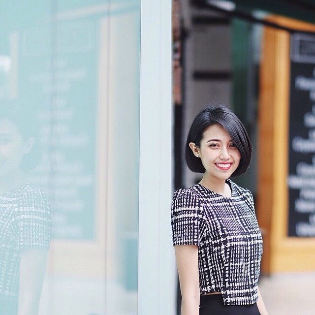 Ellyse Sinsilia looking all lovely in our Topsy houndstooth top.